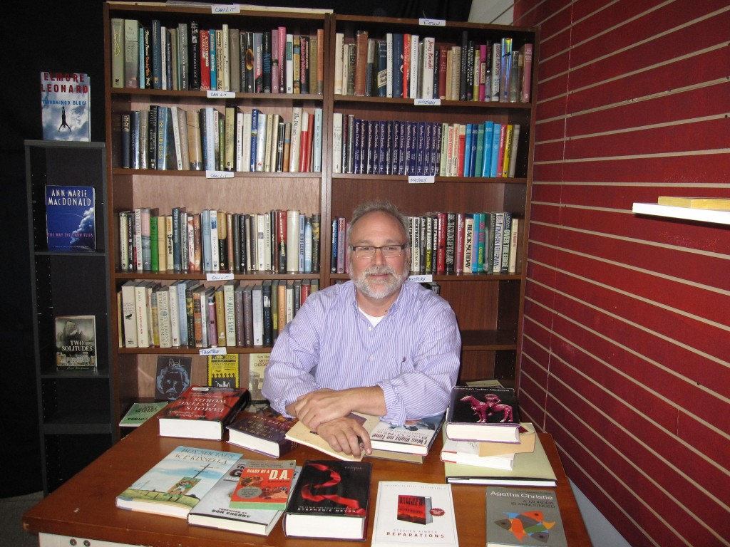 Meet Jamey Piedalue, book lover and book seller. (Photo by Rebecca Douglass)
